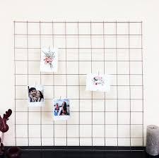 rose gold copper wire wall grid shelf