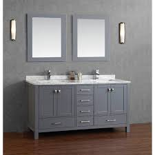 gray bathroom vanity with sink. buy vincent 72 inch solid wood double bathroom vanity in charcoal gray with sink 7