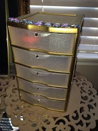 sterilite plastic storage drawers for clothes from for about 9 sprayed gold and