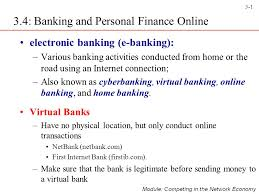 3 4 Banking And Personal Finance Online Ppt Video Online