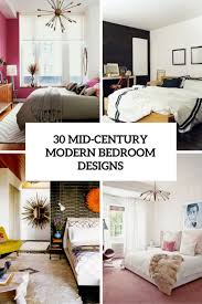 Modern bedroom with bathroom Romantic Architecture 30 Chic And Trendy Mid Century Modern Bedroom Designs Digsdigs Pertaining To Ideas Remodel Nepinetworkorg Mid Century Modern Bedroom Ideas Nepinetworkorg
