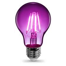 led a19 bulb type e26 base standard black light colored 7w 120v lightbulb