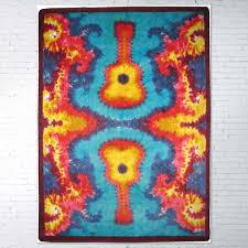 5ft x 8ft 64in x 92in tie dye guitar area rug number 203323