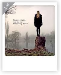 Nichts Stirbt Was In Der Erinnerung Bleibt Kondolenzkarte Trauer