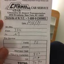 car service receipt car service nyc 38 reviews limos 348 west 57 st hells