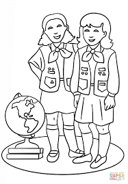 Brownie Girls Scout Coloring Page From