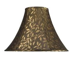 6 lamp shade transitional bell shape spider construction lamp shade in brown textured fabric 6 drum 6 lamp shade