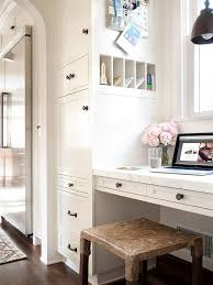 kitchen office pinterest desks. having a home office or message center in the kitchen can be extremely helpful here floortoceiling cabinet conceals variety of supplies and pinterest desks