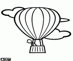 Kleurplaat Een Bemanningslid In De Hete Luchtballon Kleurplaten