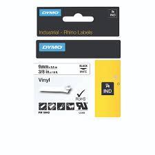 rhino office furniture. Dymo Rhino Vinyl Tape 9mmx5.5m Black On White 18443 Office Furniture