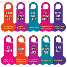 5 Double Sided Funny Novelty Door Knobs Or Knockers Door Knob Signs