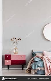 flowers elegant glass vase diy velvet covered pastel pink burdy stock photo
