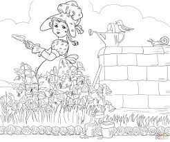 mary quite contrary nursery rhyme coloring page pages rhyme coloring pages surging free printable
