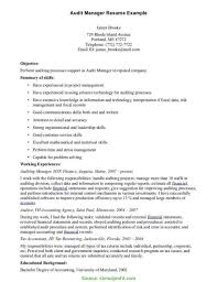 Simple It Audit Manager Resume Sample Internal Audit Manager Resume