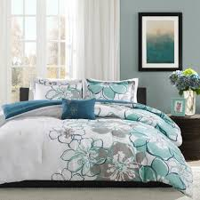 bed bedding grey white fl california king comforter sets for pertaining to unique california