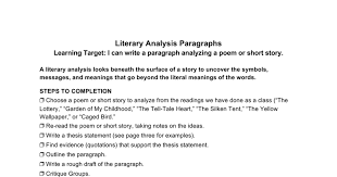 literary analysis paragraph google docs