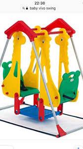 baby kids vivo indoor garden outdoor twin double play swing