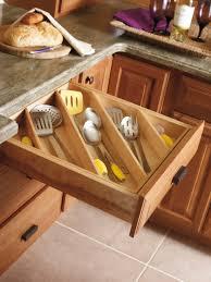 Diagonal Drawer Storage, 25 Kitchen Organization Ideas via A Blissful Nest