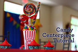 Homemade Circus Decorations Circus Party Candy Centerpiece Tutorial Youtube
