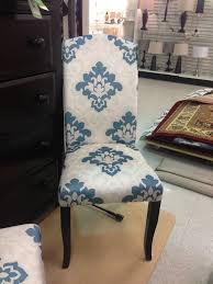 white and blue damask parson chairs for home furniture ideas
