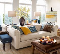 Pottery Barn Living Room Furniture Sofa Pottery Barn Tufted Leather Gmotrilogy