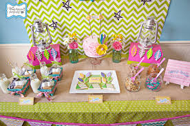 Camp-birthday-party-dessert-table