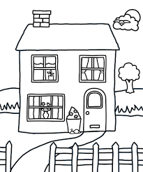 Easy House Colouring Pages Christmas Coloring Page Free Printable 4