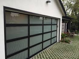 glass garage doors modern contemporary modern garage