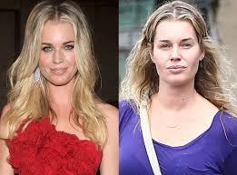 rebecca romijn from stars without makeup you kinda have to figure the model actress is gonna look great with or without makeup heck she even rocked blue