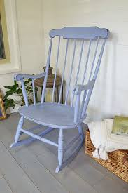 sit back and relax with a good book on this large shabby chic rocking chair hand