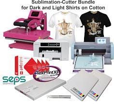 To Make Shirts Sublimation Cutter Heat Press Equipment Bundle To Make Dark And Light Shirts On Cotton