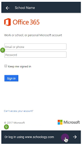 Office 365 Log In New Login Flow For Schoology Ios And Android Apps