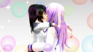 It is based on the hyperdimension neptunia video game series. Neptunia Yansim Hanako Kisses Nepgear By Fcomk513 Da On Deviantart