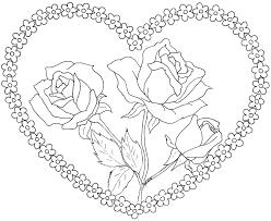 63 Dessins De Coloriage Rose Et Coeur Imprimer Sur Laguerche Com Coloriage Mandala Coeur Imprimer L