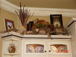 image of above cabinet decorating ideas