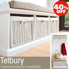 Coat Rack With Storage Baskets TETBURY White Bench with storage basketsHallway hanging shelf 73