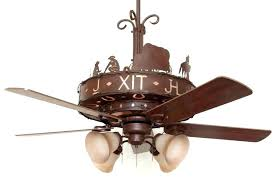 ceiling fans with lights rustic lighting and western