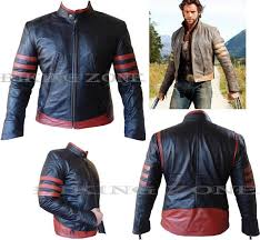 details about x men wolverine style mens blk red fashion high quality ene leather jacket