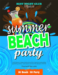 Beach Flyer Beach Party Flyer Royalty Free Cliparts Vectors And Stock