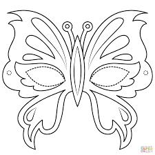 Disegno Di Maschera Di Farfalla Da Colorare Disegni Da Colorare E