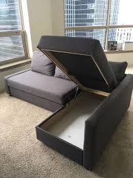 ikea friheten sleeper sectional 3 seat w storage furniture in chicago il offerup