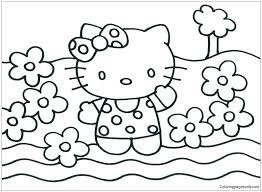 Coloring this character is very simple : Hello Kitty Princess 1 Coloring Page Free Coloring Pages Online