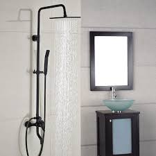 image of wall mount bathtub faucet with handheld shower