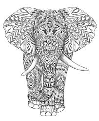 aztec elephant hand drawing detail graphic art hand drawing