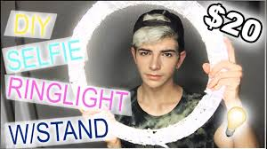 Diy Ring Light Tutorial Under 20 W Stand Side By Side Comparison