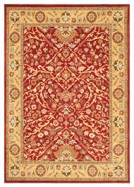 traditional tuscany 439x5396 rectangle red gold area rug