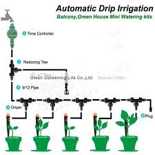 drip system for garden. 5M Timing Automatic Drip Irrigation System Home Garden Balcony Greenhouse Flower Watering Kits Unmanned Operation Irrigator-in From For