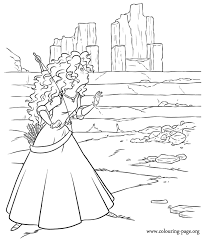 Small Picture disney movies coloring pages Merida inside the ruins