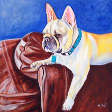 luxury frenchie oil on canvas by drago milic