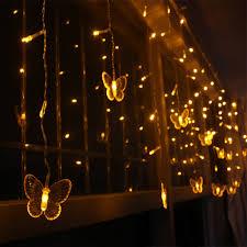 Curtain Led Lights Uk 5m 3 5m Led Curtain Butterfly String Light Fairy Lights